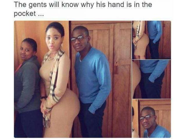 Why gents put hands in pockets